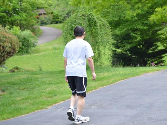ジョギング中に膝を痛めた患者さん